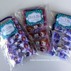 10 Pack Party Favors Disney Princess Sofia the by OliverandMay, $14.95