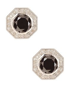 Black & White Diamond Geometric Stud Earrings - 2.00 ctw by Savvy Cie on @HauteLook