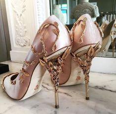 "badestoutfits: "" Ralph & Russo 'Eden' pumps with rose gold heel. """