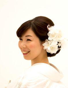 白無垢 洋髪 髪型 花嫁 和装