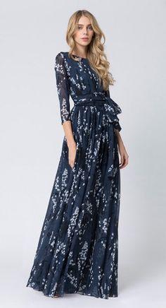 1af881ba19a Alexander Terekhov    Fall-Winter 2015-16    Floral maxi dress. Modest  DressesWinter Maxi DressesModest OutfitsModest ...