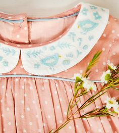 Embroidered Collar Dress | Boden