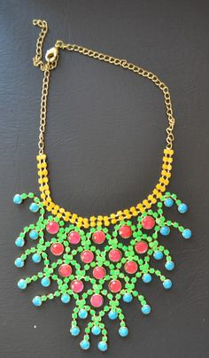 DIY Neon Necklace with nail polish!