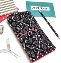 Fabric Fauxdori. Traveler Notebook. Cover. Fauxdori A5 Notebook Cover. Skulls. Wide Fauxdori. Pocket Faux Dori. Personal Planner by DreamAndAnchor on Etsy https://www.etsy.com/ca/listing/470217038/fabric-fauxdori-traveler-notebook-cover