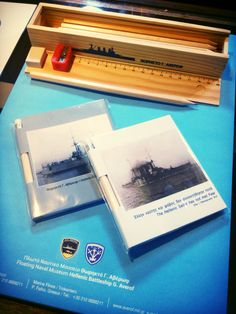 Magnetic notepads and pencil cases for Averof Naval Museum shop! Patent : prepack.gr