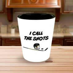 Gift shot glass for the hockey enthusiast.