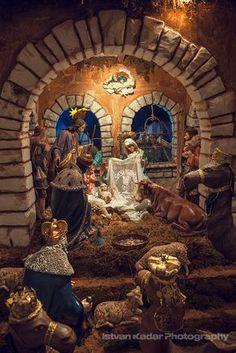 Nativity Scene by Fesign Christmas Crib Ideas, Childrens Christmas, Christmas Wood, Christmas Holidays, Christmas Crafts, Merry Christmas, Christmas Decorations, Christmas Printables, Christmas Nativity Scene