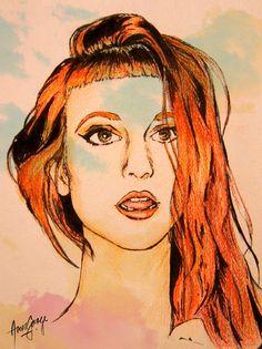 Hayley Williams Art Print on Etsy, $7.00
