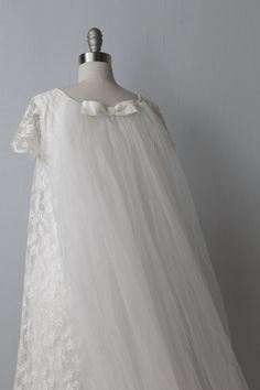 1960s Wedding Dress / 60s Bridal Gown / Lace by TheVintageMistress, $345.00