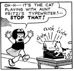 "Cats in Art, Illustration and Cartooning: Ernie Bushmiller's ""Nancy."""