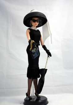 """Couture design - Audrey Hepburn with the black dress in """"Breakfast At Tiffany's"""""""