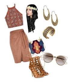 """Boho spring"" by emmatraynor on Polyvore featuring Abercrombie & Fitch, River Island, Gianvito Rossi, Chloé, Christian Dior and Lucky Brand"