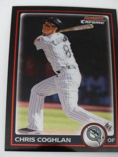 2010 Bowman Chrome #157 Chris Coghlan Florida Marlins Baseball Card #BowmanChrome #FloridaMarlins