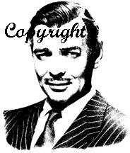 Clark Gable Rubber Stamp