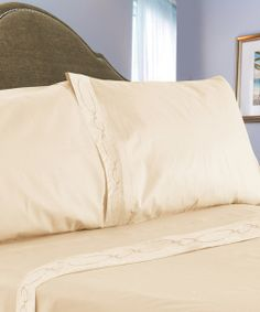 Take a look at the Ivory Chain Link Embroidered Sheet Set on #zulily today!