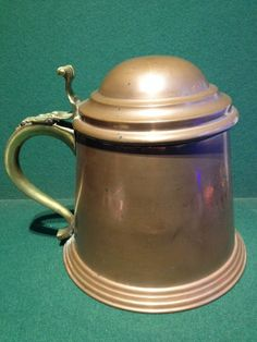 Rare & Unusual Vintage Large Copper Tankard Shaped Ice Buckery With Brass Handle