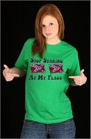 BEWILD.COM: Stop Staring At My Flags Girls T-Shirt Buy Now $12.99 Find at Faearch