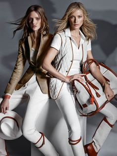 Equestrian Chic--Fresh for the spring season, Spanish retailer Massimo Dutti launched its Equestrian collection earlier today which features chic and timeless styles inspired by the sportswear style. Models Carolyn Murphy (who starred in the brand's Carolyn Murphy, Equestrian Chic, Equestrian Outfits, Equestrian Fashion, Equestrian Collections, Horse Fashion, Mode Style, Preppy, Street Wear
