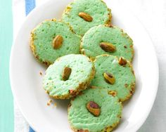 These buttery cookies are a festive green color for the holidays.  For more recipes, visit Taste of Home. ...