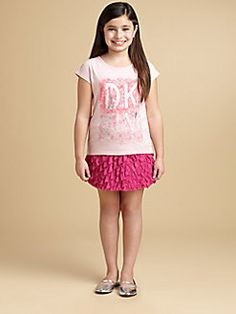 DKNY - Girl's Lace Print Tee
