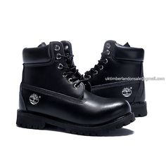 Timberland Women s 6 Inch Bright Leather Boots All Black  72.00 All Black  Timberlands 2dcf5db7ce0