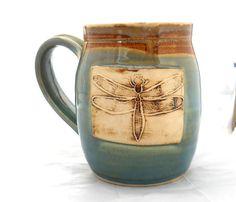 Ceramic Handmade Pottery Wheel thrown Dragonfly by jewelpottery