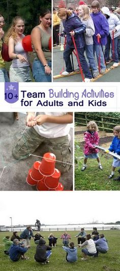 Team Building Activities for Adults and Kids! Outdoor Team Building Activities For Adults, Classroom Team Building Activities, Camping Games For Adults, Group Activities For Adults, Group Team Building Activities, Teamwork Activities, Building Games For Kids, Outdoor Games For Adults, Teacher Team Building
