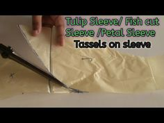 Tulip sleeve/ Fish cut sleeve / petal sleeve / cutting and stitching simple method for beginners - YouTube Patch Work Blouse Designs, Blouse Back Neck Designs, Tulip Sleeve, Petal Sleeve, Sleeves Designs For Dresses, Sleeve Designs, Tulips, Stitching, Fish