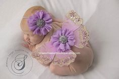 Baby Butterfly Wings Sweet Lilac Enchantment Wings And Headband Set From The Sweet Fairy Fancy Collection Newborn Photo Prop on Etsy, $28.00