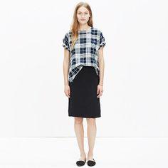 """A sleek slip skirt in a just-right not-too-heavy weight. This streamlined midi style is a design-team favorite. <ul><li>A-line skirt.</li><li>24"""" long.</li><li>Viscose/rayon.</li><li>Dry clean.</li><li>Import.</li></ul>"""