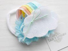 ~* Over the Rainbow *~ Pastel Headband or Clip