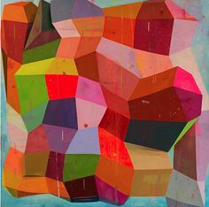 Colorful geometric paintings by Deborah Zlotsky