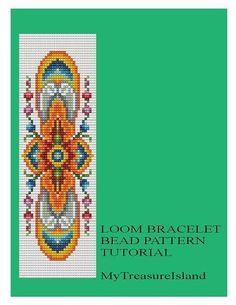 Bead Loom Vintage Motif 7 Bracelet Pattern Chart PDF
