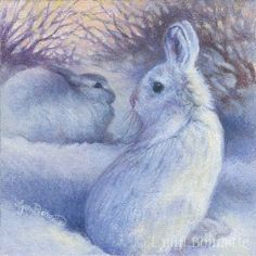 """Snow Bunnies"" Art by Lynn Bonnette"