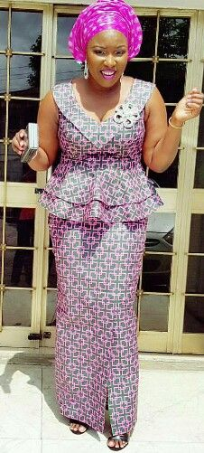African Wear, African Fashion, Lace Gown Styles, Salama, Ankara Styles, Peplum Dress, Gallery, How To Wear, Dresses