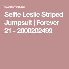 Selfie Leslie Striped Jumpsuit | Forever 21 - 2000202499