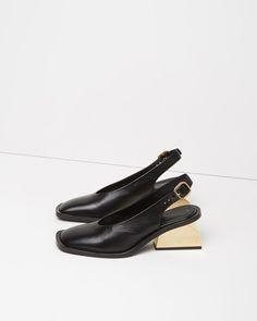 MARNI   Block Heel Slingback   Shop at La Garçonne