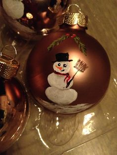 Ornament I painted whit acrylic for Christmas.