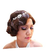 Stunning Finger Wavy Style Short Skin Top Costume Wigs 1920's flapper look 3853365 2017 – £21.35