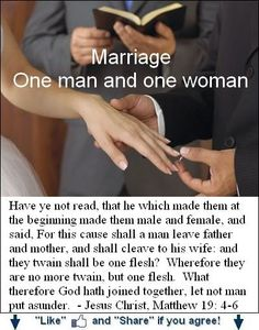 Biblical scriptures against homosexual marriage
