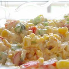 Spicy Corn Dip...this is great for tailgating, parties, or just snacking around the house      http://allrecipes.com/recipe/spicy-corn-dip/detail.aspx