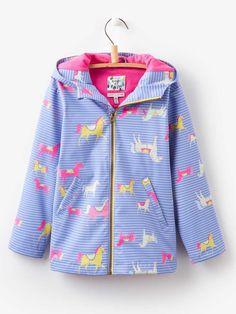 Lavender Horse - Joules Girls Raindance Showerproof Coat