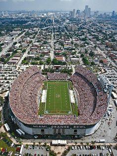 Miami Hurricanes...Orange Bowl Stadium