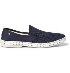 Cotton Mesh Slip-On Shoes   MR PORTER