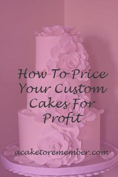 If you have a cake business and want to know how to price your cakes, this guide will walk you through the process of setting your prices. Based on 20 years of experience and a business that was profitable from the first year! It's everything you need to know in one spot. https://www.etsy.com/listing/249560767/how-to-price-your-custom-cakes-for?utm_source=Pinterest&utm_medium=PageTools&utm_campaign=Share #CakeBusiness #Cakes
