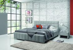 Pat tapitat Kalipso H cu lada de depozitare #pattapitat #bedroom #homedecor Box Design, House Design, Box Bed, W 6, Lighting Design, New Homes, Couch, Modern, Furniture