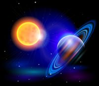 Sun with saturn background vector Sun Background, Beauty Companies, Planets, Buddha, Post, Outdoor, Seo, Image, September