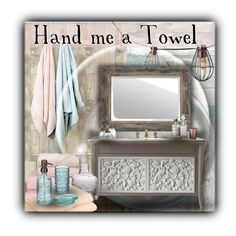 """""""Hand me a Towel"""" by sapora ❤ liked on Polyvore featuring interior, interiors, interior design, home, home decor, interior decorating, NLXL, WallPops, Brewster Home Fashions and Uttermost"""