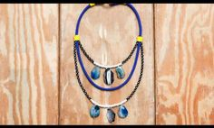 DIY Proenza Schouler Necklace by Refinery29 Features Rough Stones #necklace #jewelry trendhunter.com