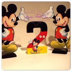 Mickey Mouse Centerpiece / Table Decor by SimplyFabChic on Etsy, $12.00